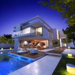MODERN HOUSE WITH POOL SHUTTERSTOCK